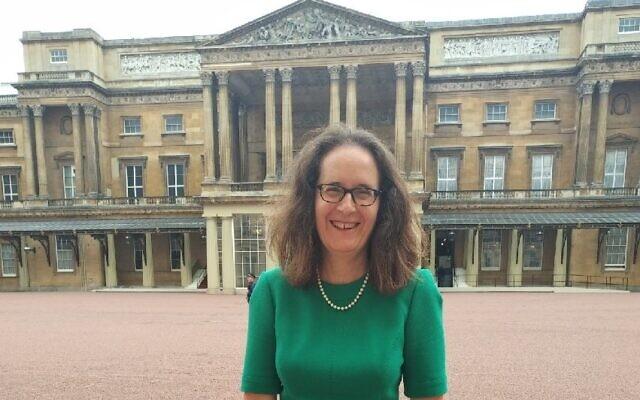 Elizabeth Harris-Sawczenko at Buckingham Palace for an interfaith reception