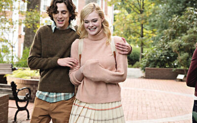 Timothée Chalamet and Elle Fanning in 'A Rainy Day In New York'