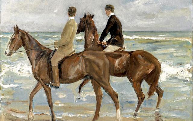 Liebermann's Two Riders on the Beach