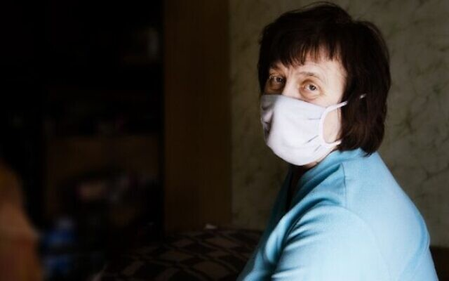 Elena, who receives support from World Jewish Relief, is in isolation (Credit: World Jewish Relief)