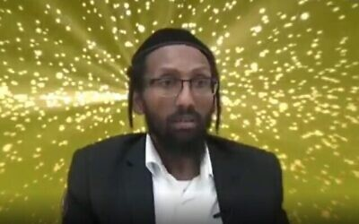 Rabbi Baruch Gazahay in a recorded lecture posted to YouTube. (Screenshot: YouTube via Times of Israel)