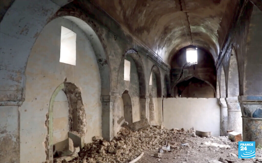 The Sassoon Synagogue in Mosul is one of four sites in Iraq that are earmarked for priority work