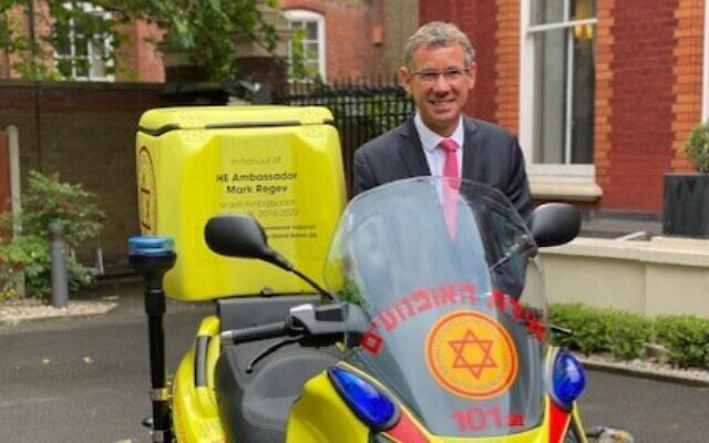 Departing Israel Ambassador to the UK Mark Regev