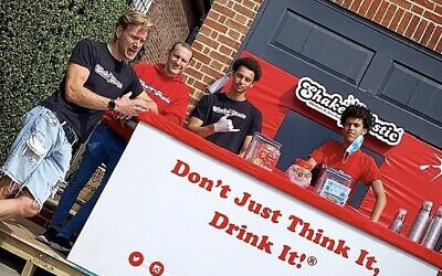 Shaketastic co-founder Josh Kettle was the virtual event's keynote speaker. His business held its first socially distanced outdoor event with a pop-up stall, pictured
