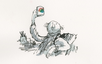 Self-portrait of the artist (Credit: Sir Quentin Blake)