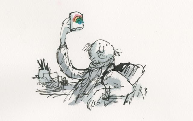 Self-portrait of the artist (Credit: Sir Quentin Blake)