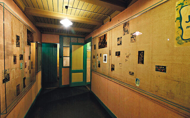 An empty room at the Anne Frank House museum in Amsterdam, where the diarist and her family hid for two years during the Holocaust.