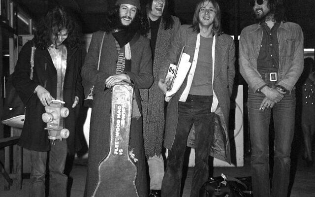 Fleetwood Mac at London Airport. Fleetwood Mac co-founder Peter Green (second left) has died at the age of 73. PA Photo.