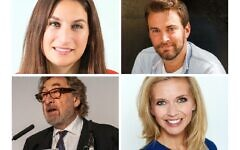 Luciana Berger, Jonny Benjamin, Howard Jacobson and Rachel Riley