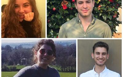 New UJS team: Shiri Wolff,  Gil Rubin, Amanda Sefton, Bradley Langer