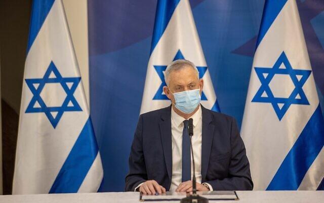 Israeli Defense Minister Benny Gantz  Photo by: Tal Shahar, Yediot Ahronot, Pool Via JINIPIX