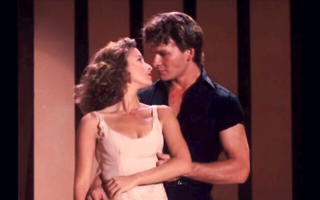 Jennifer Grey, pictured in Dirty Dancing with Patrick Swayze, is rumoured to be working on a new film with Lionsgate