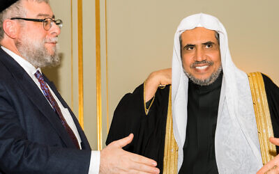 Chief Rabbi Pinchas Goldschmidt, president of the Conference of European Rabbis, and Shiekh Dr Mohammad bin Abdulkarim Al-Issa, secretary-general of the Muslim World League and president of Muslim Scholars Organisation.