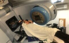 Lucie having radiotherapy treatment in hospital