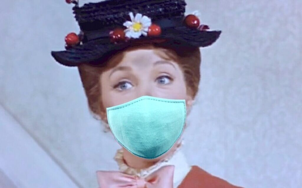 You can always hope a masked Mary Poppins flies into your garden!