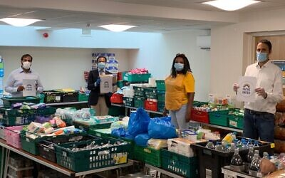 Young people participating in North Paddington Food Bank collection