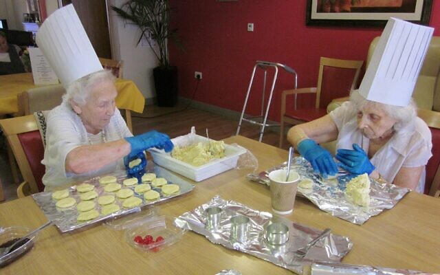 Otto Schiff care home residents baking