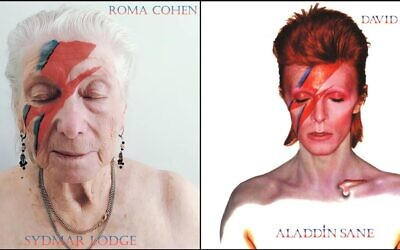 Roma Cohen of Sydmar Lodge as David Bowie's Aladdin Sane