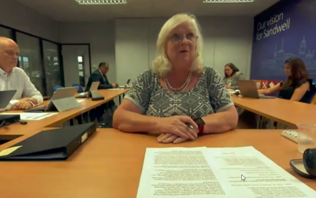 Councillor Yvonne Davies resigned as leader of the council during a cabinet meeting (Credit: Sandwell Council)