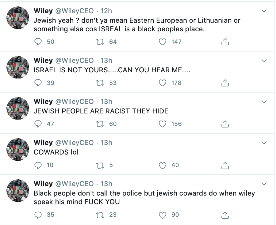 Police investigate anti-Semitic tweets by grime artist Wiley