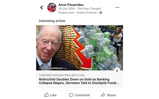 Anne's article referencing Jacob Rothschild