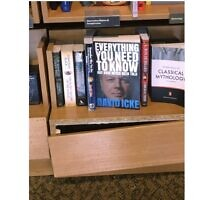 A David Icke book was pictured at a Waterstones branch on Tuesday