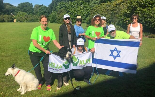 Walking group raising funds for ALEH during a two day walk-a-thon