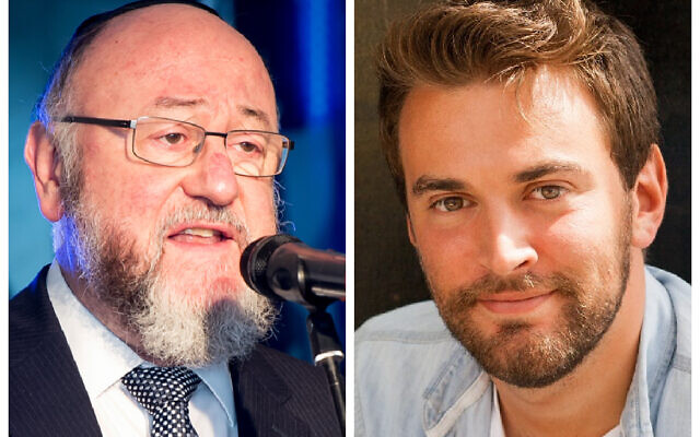 Chief Rabbi Mirvis and Jonny Benjamin
