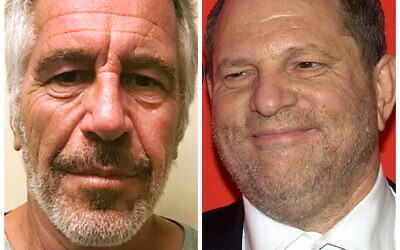 Jeffrey Epstein and Harvey Weinstein (Jewish News)