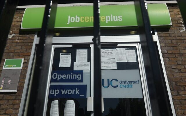 A Jobcentre Plus in London pictured earlier this year (Credit: PA Wire/PA Images Yui Mok)