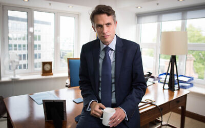 Secretary of State for Education Gavin Williamson in his office at the Department of Education in Westminster,