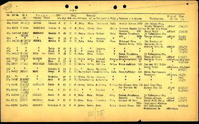 Symcha Fiszel ITS Passenger List (Handout)