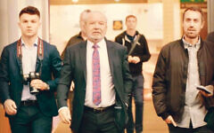 Andrew Bloch, right, with Lord Sugar