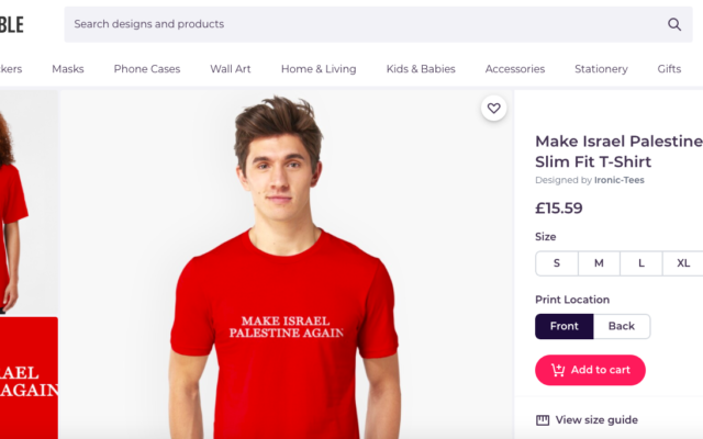 Item being marketed online (Credit: Redbubble)