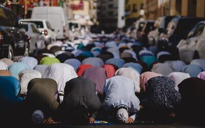 Muslim worshippers during prayer. (Photo by Levi Clancy on Unsplash via Jewish News)