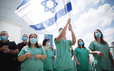 Israeli medical staff.  Photo by Miriam Alster/Flash90