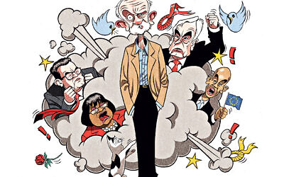 Cartoon depicting chaos under Corbyn in the Labour Party