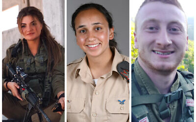 Staff Sergeant Yana Iogvenko, Staff Sergeant Talia Eliyahu and Staff Sergeant Michael Melamed