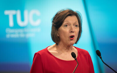 Frances O'Grady, General Secretary of the TUC speaking at the TUC's Congress in London.