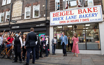 The Duke and Duchess of Cambridge leave after a visit to the Beigel Bake Brick Lane Bakery in London.