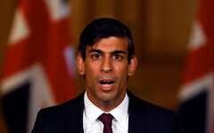 Chancellor of the Exchequer Rishi Sunak during a virtual news conference in Downing Street, London, after he presented his Winter Economy Plan to MPs in the House of Commons.