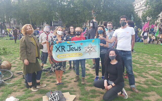 XR J activists at the Parliament Square demonstration