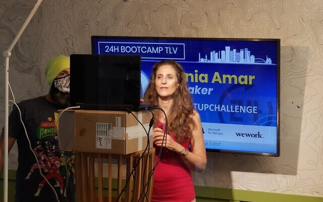 Co-founder Tania Amar at the bootcamp