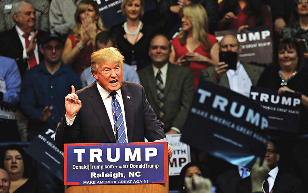 Donald Trump speaks at a campaign rally in 2015. (AP Photo/Ted Richardson)