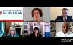 The Board of Deputies virtual Labour conference event (Screenshot from YouTube)