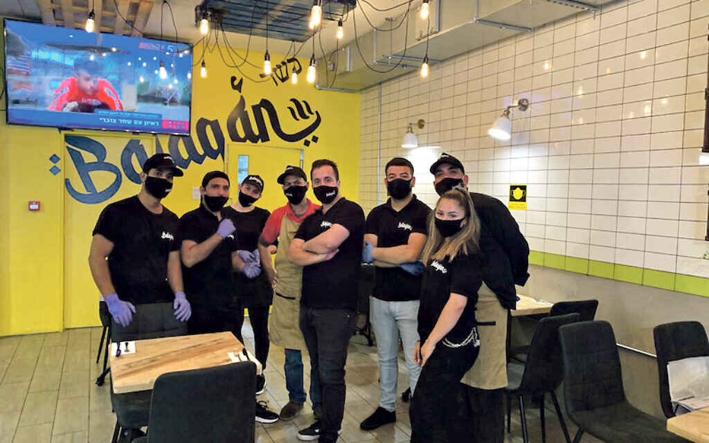 The team at Balagan, which means 'utter chaos' in Hebrew