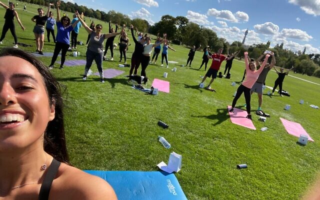 Workout sessions in Regent's Park!
