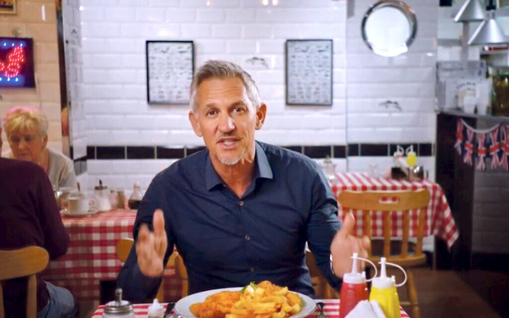 Gary Lineker during the clip