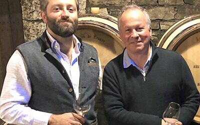 Wine Director Tom with Burgundy superstar Etienne de Montille