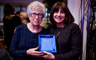 JVN awards 2019, where JWA volunteers received the Outstanding Team Award:   L: Mildred Levison, Honorary Vice President of JWA, and R: Naomi Dickson, CEO